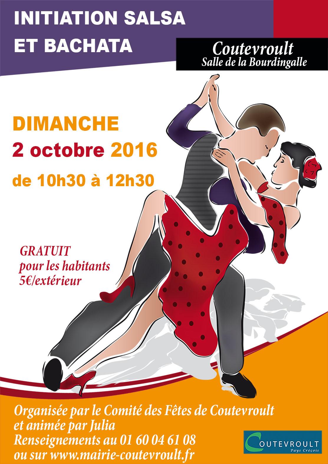 Initiation salsa & bachata : dimanche 2 octobre 2016