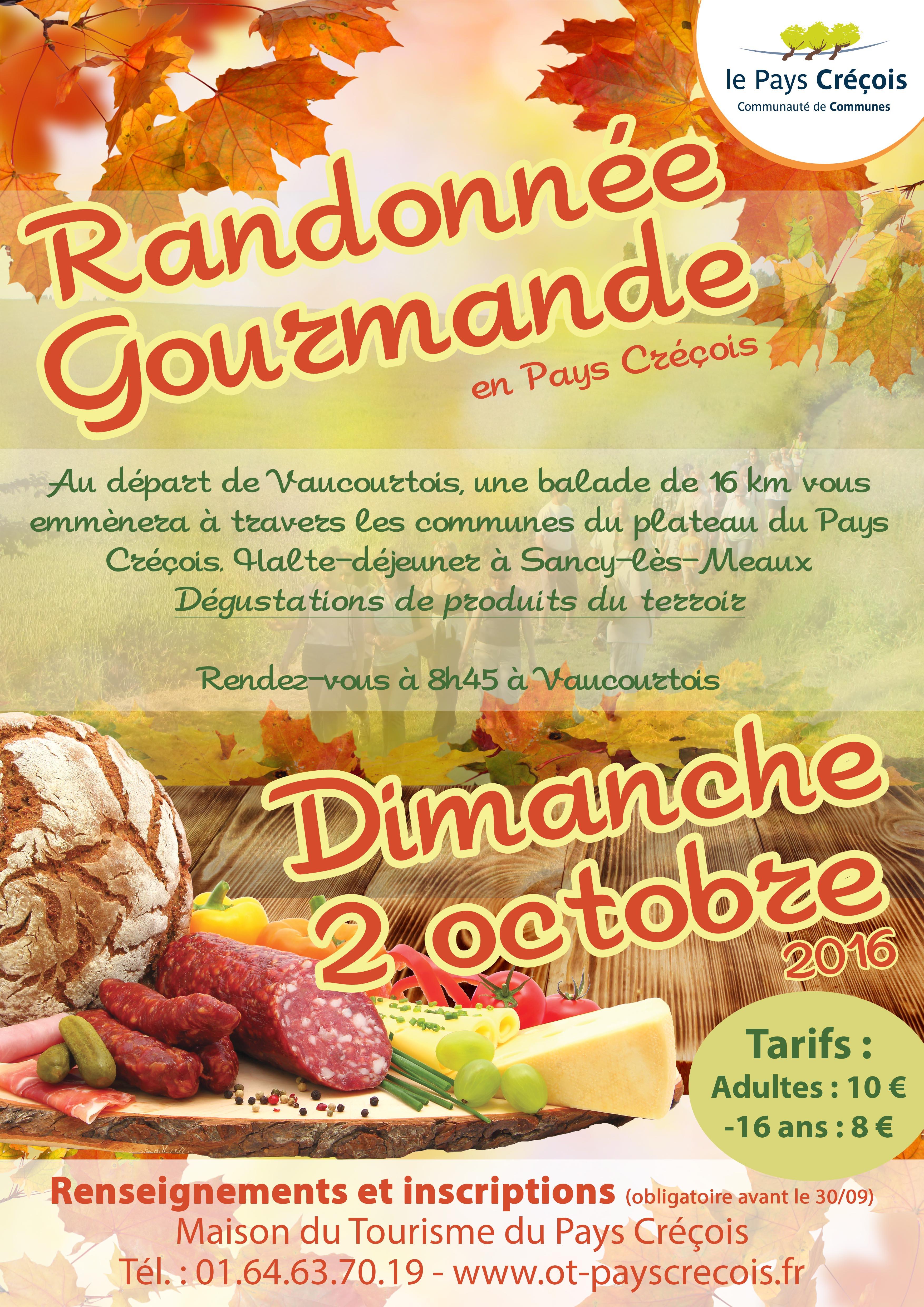 Rando gourmande en Pays Créçois : dimanche 2 octobre 2016