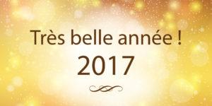 Très belle année 2017 !